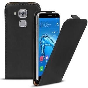 Flip-Case-Huawei-Nova-Plus-Huelle-Pu-Leder-Klapphuelle-Handy-Tasche-Cover-Schwarz