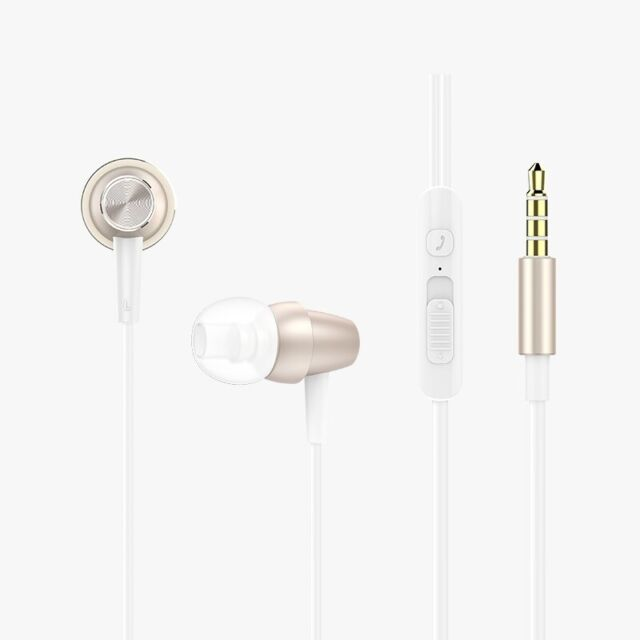 Xipin Gold In-Ear Earphones with Microphone and Volume Control Youthful Serie...