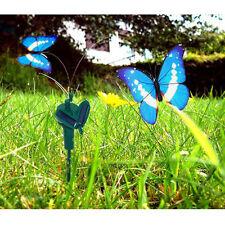 HQRP Mariposas dobles decorativas solares azules, morpho para jardín, macetas