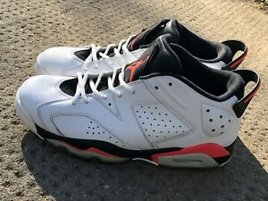 competitive price 89ca8 37bcf Details about Nike Men's Air Jordan 6 Retro Size 10 Low Infrared White  Black 304401-123