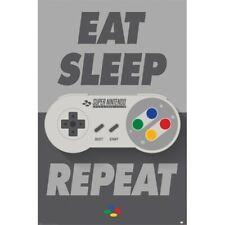 EAT SLEEP GAME REPEAT SLIM POSTER 12x24-53329