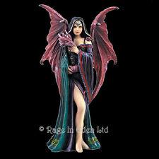 *SOUL MATES* Goth Fairy Dragon Resin Fantasy Art Figurine By Anne Stokes