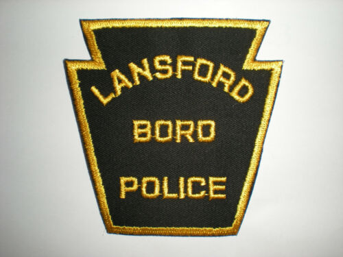 LANSFORD BORO PENNSYLVANIA POLICE DEPARTMENT PATCH