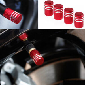 4x-Colorful-Anodized-Aluminum-Round-Tire-Valve-Stem-Caps-Practical-Useful-New