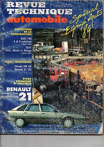 Ouvert D'Esprit Rta Revue Technique Automobiles N° 508 Renault 21 2l
