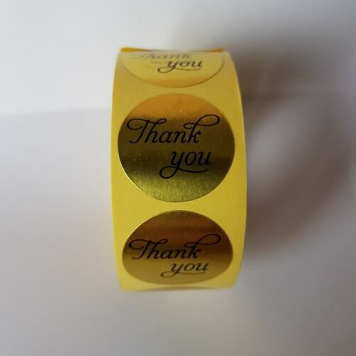"""20 x Thank You Stickers 25 mm Heart Birthday Wedding Mothers 1/"""""""