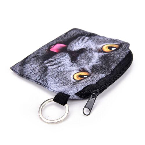 Katze-Münzen-Geldbeutel-Karikatur-Mappen-Beutel-Kindergeldbeutel-Halter PDH
