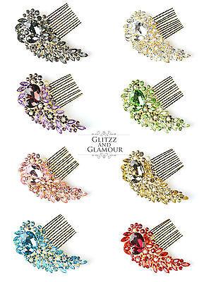 Bello Sposa Oro Gioiello Diamante Capelli Pettine Clip Fascinator Con Diapositiva Parrucchino-mostra Il Titolo Originale