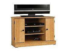 Sauder Beginnings Corner Tv Stand Highland Oak Ebay