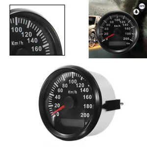 85mm GPS Speedometer 200km//h Stainless Waterproof for Car Truck 7 Colors LED