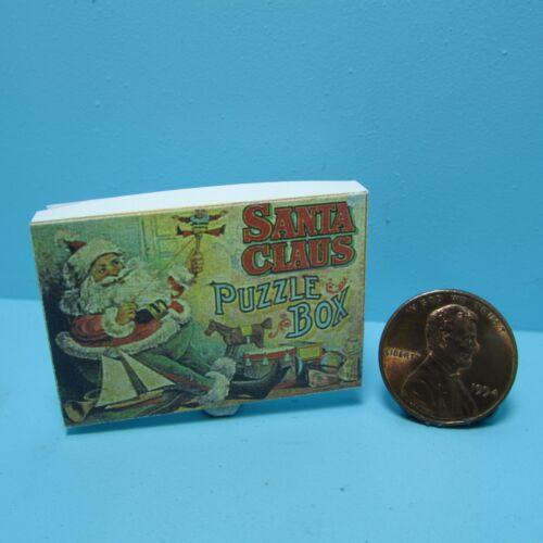 Dollhouse Miniature Detailed Replica of Santa Puzzle Box CAR1693