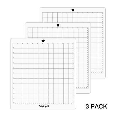 "3 pack 12/""x12/"" Grid Mat Silhouette Cameo 3 cutting plotter Carrier sheet"