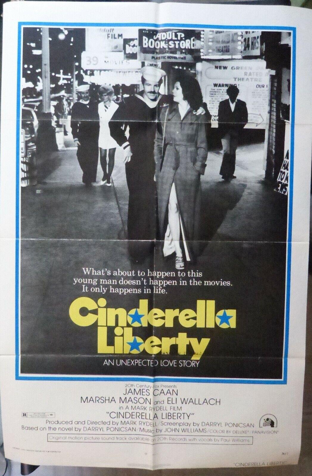 Cinderella Liberty Movie Poster,1 sheet,Original,1974,Folded,James Caan