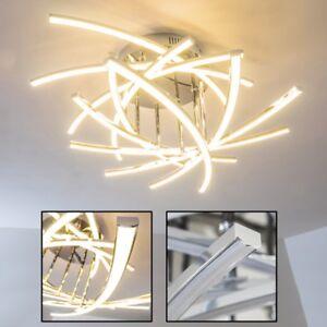 Deckenleuchte-LED-Design-Flur-Strahler-Wohn-Zimmer-Chrom-Leuchten-Decken-Lampen