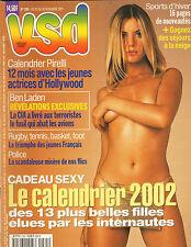 VSD N°1265 calendrier pirelli 2002 robbie williams 2001
