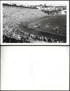 Brazil Sao Paulo Pacaembu Stadium Football Soccer old real photo PC 1950s