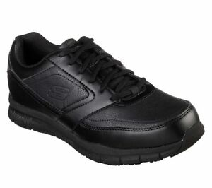 Skechers-Black-shoes-Memory-Foam-Work-Men-039-s-Comfort-Slip-Resistant-EH-Safe-77156