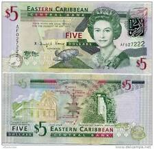 West Indies - 5 East Caribbean Dollars - UNC currency note