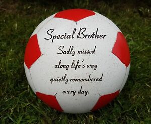Brother-Grave-Memorial-Ornament-Remembrance-Red-Football-Plaque-Brother