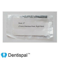 Endo Ruler Stainless Steel Right Hand 3 Inch, Ruler Only, No Ring
