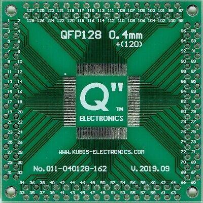 """AU 0.016/"""" QFP100,LQFP100,TQFP100 0.40mm to 4 x IDC2x13 connector."""