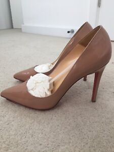 low priced c5092 39c63 Details about Christian Louboutin Pigalle 100 Patent Calf 41 EXCELLENT  CONDITION