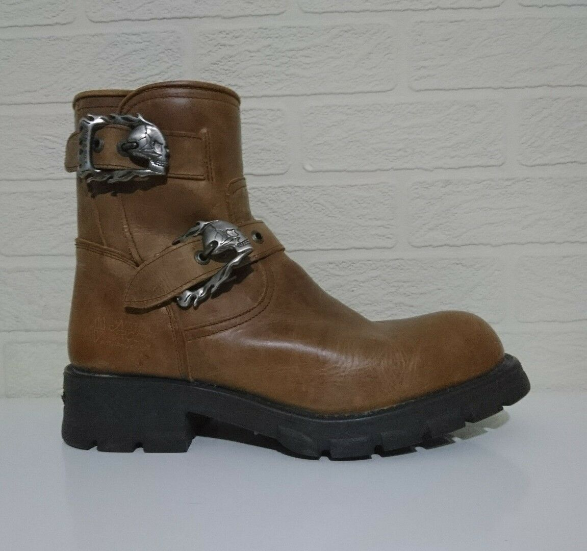 NEW ROCK - Newman Collection (Limited Production) M.7613 braun Motorcycle Stiefel