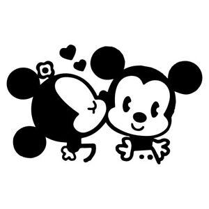 Détails Sur 6 Retro Mickey Minnie Autocollant Vinyle Autocollant Voiture Fenêtre Ordinateur Portable Disney Souris Kiss Afficher Le Titre