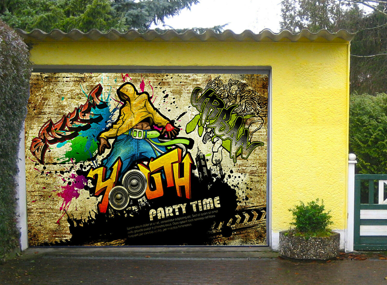 3D Graffiti Youth Garage Door Murals Wall Print Decal Wall Deco AJ WALLPAPER IE