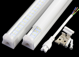 4ft LED Shop tube Light Fixture,22w 2800 Lm T8 Integrated ...