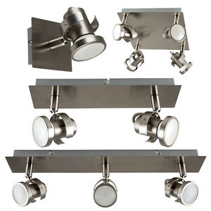 Brushed-Chrome-Adjustable-LED-GU10-Ceiling-Spot-Light-Kitchen-Spotlight-Fittings