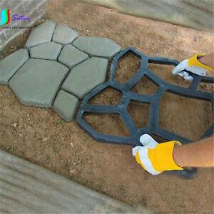 Molde-de-hagalo-usted-mismo-Jardin-Sendero-Hacedor-Pavimentacion-Plastico-Ladrillo-Cemento-Molde