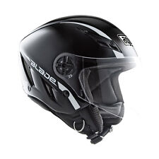 AGV Blade Mono Open-Face Motorcycle Helmet (Flat Black) M (Medium)
