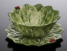 BASSANO Salatteller & Schale mit Marienkäfer Ausgefallene italienische Keramik