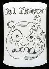 2013 Topps Wacky Packages Series 11 JASON BROWER Shaped Sketch ~ Del Monster