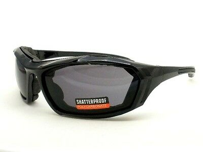 UV3197 Motorcycle Glasses w// Polycarbonate Impact Resistance Smoke Lens