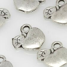 Pack of 10 10mm Apple Tibetan Silver Spacer Charms Finding Beads