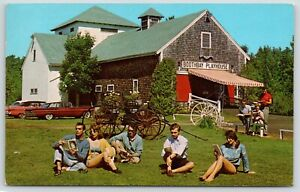Boothbay-Harbor-Maine-Playhouse-Cast-Study-Lines-on-Lawn-Scripts-1950s-Cars