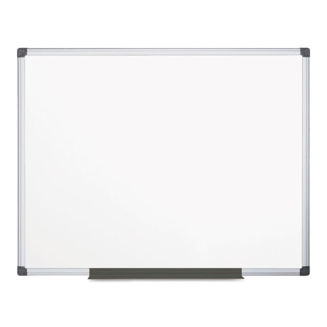 Mastervisiona Value Melamine Dry Erase Board 48 X 72 White Aluminum Frame