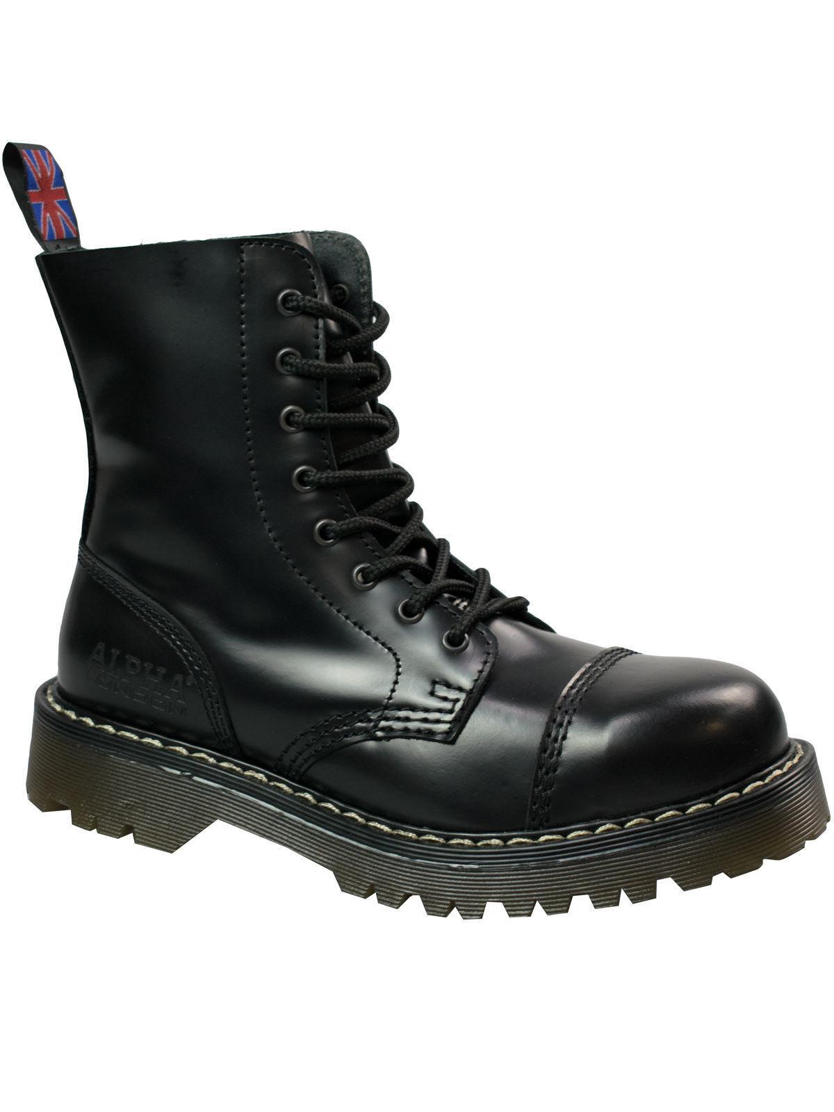 Alpha London 8-loch Boot 4160 Mit Stahlkappe Beige Sohle / Beige Naht #5051