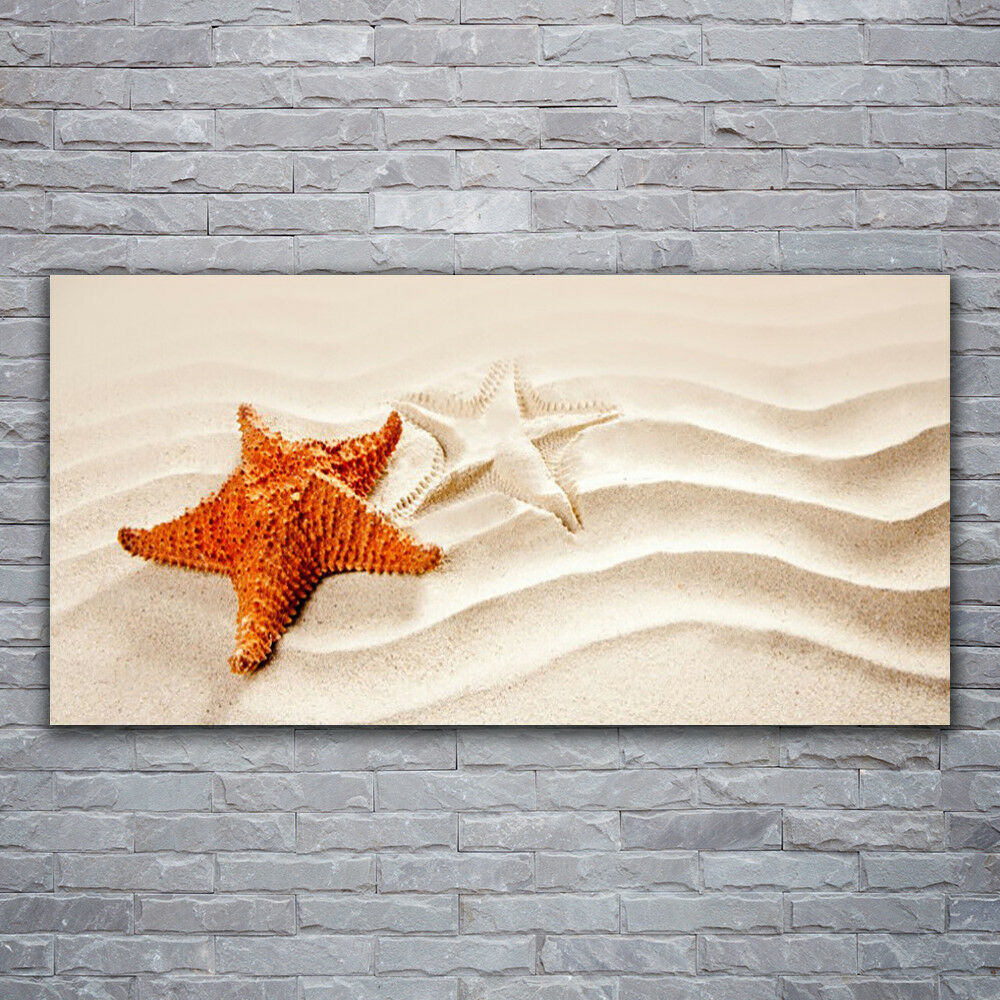 Canvas print Wall art on 120x60 Image Picture Starfish Sand Art