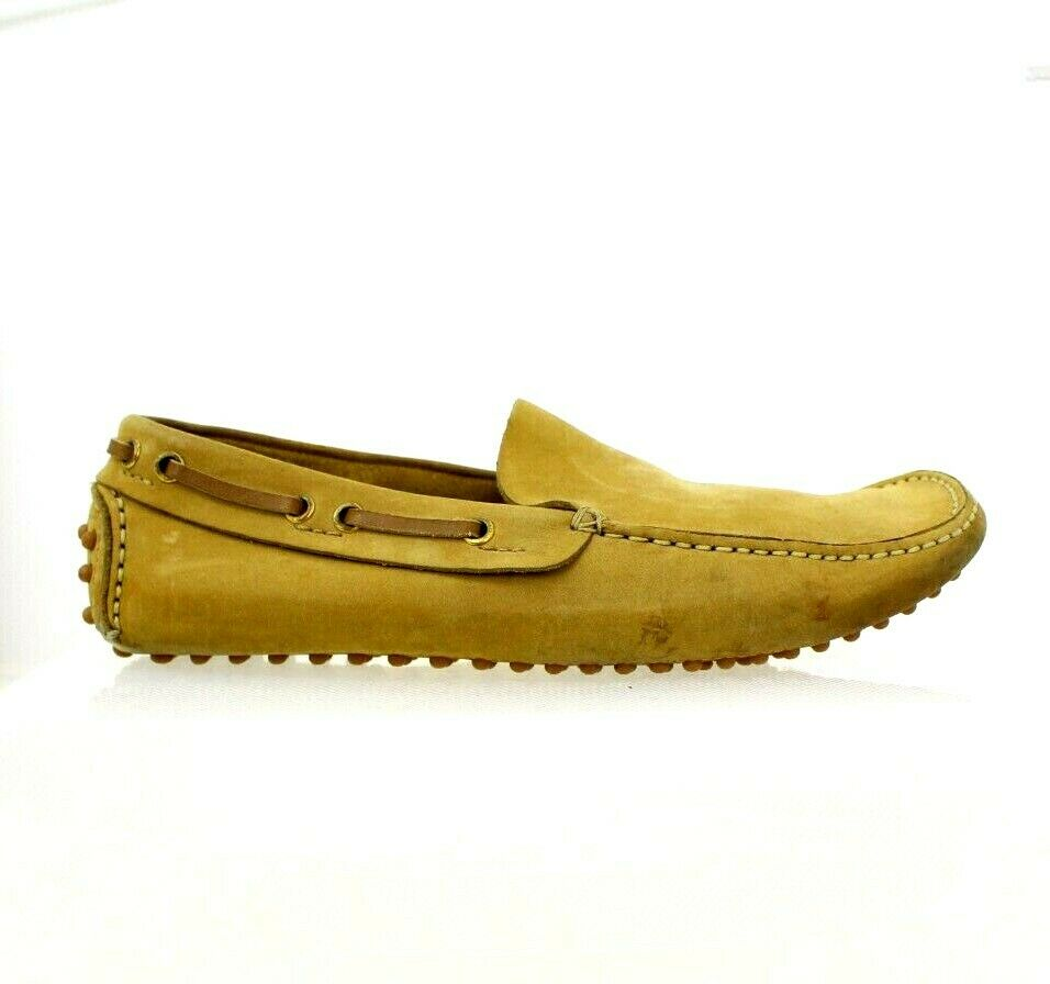 Russell & Bromley Tan Leather Mens Driving shoes Loafers 41 8