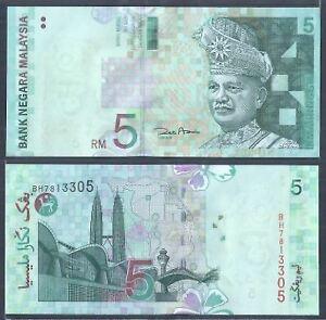 Malaysia-RM5-11th-Series-Zeti-Paper-UNC-2004-5-BH-7813305