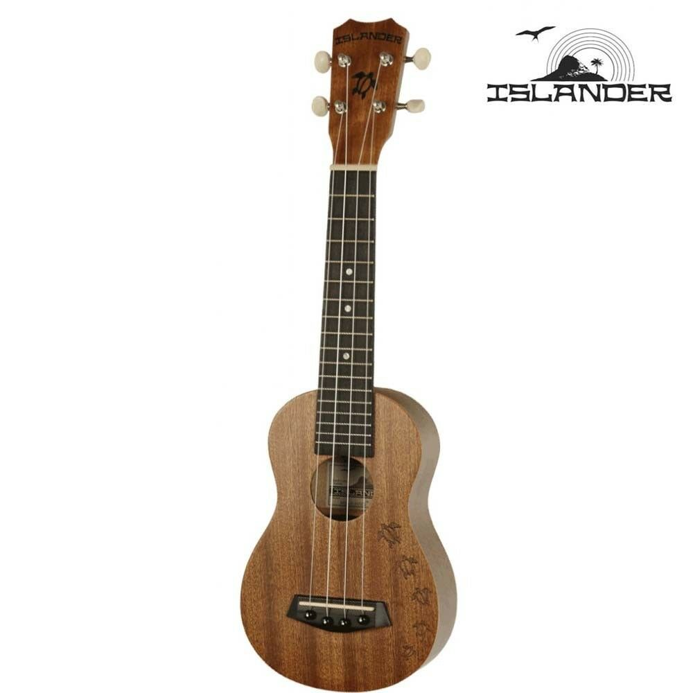 Islander by Kanile'a MS-4-HNS Traditional Soprano Ukulele with Turtle Engraving