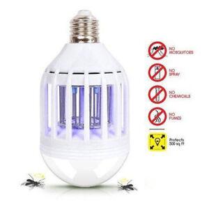 LED-Bulb-E27-15W-Anti-Mosquito-Insect-Zapper-Flying-Moths-Killer-Light-lamp-KF
