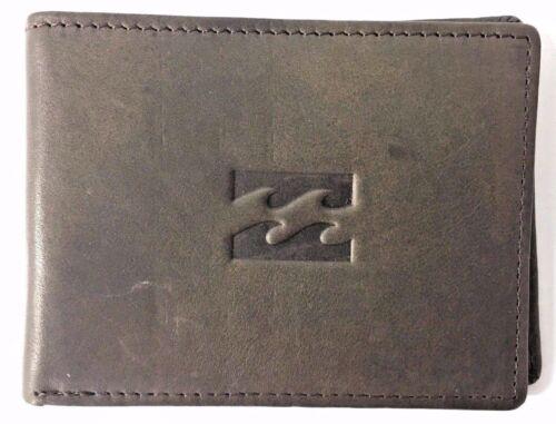 Men/'s Billabong Icon Java Slim Leather Flip Wallet RRP $49.99 NWOT.