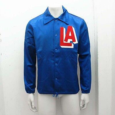 NEW Mens Ebbets Field Flannels Blue LA Satin Windbreaker GENUINE RRP: £270