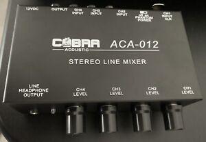 Cobra-Acoustics-Stereo-Line-Mixer-amp-Mic-Line-With-Phantom-Power-ACA012