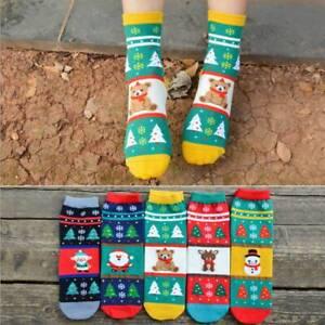 Cartoon-Christmas-Socks-Women-Girls-Soft-Cotton-Warm-Winter-Xmas-Funny-Socks-AU