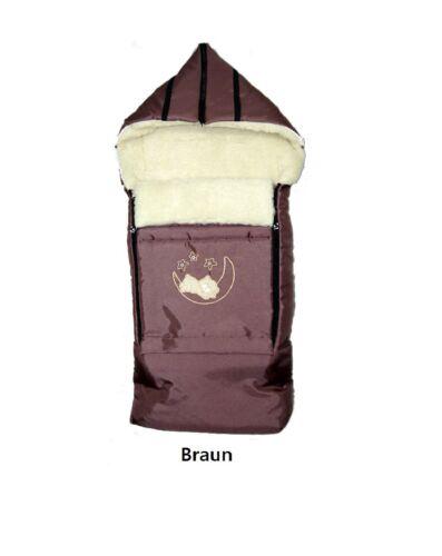 Holzschlitten laine sackbaby cornet Chancelière luge chancelière hiver 107 cm